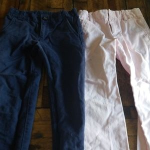 Two pants one pink one blue